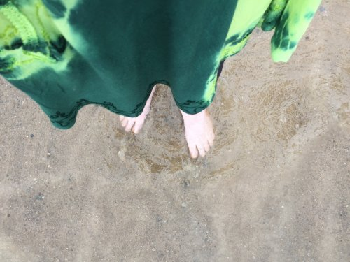 dipping my toes in Lake Huron