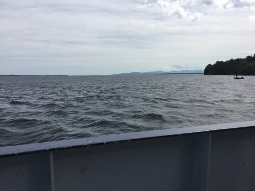 the ferry across Lake Champlain from Plattsburgh, NY to Vermont